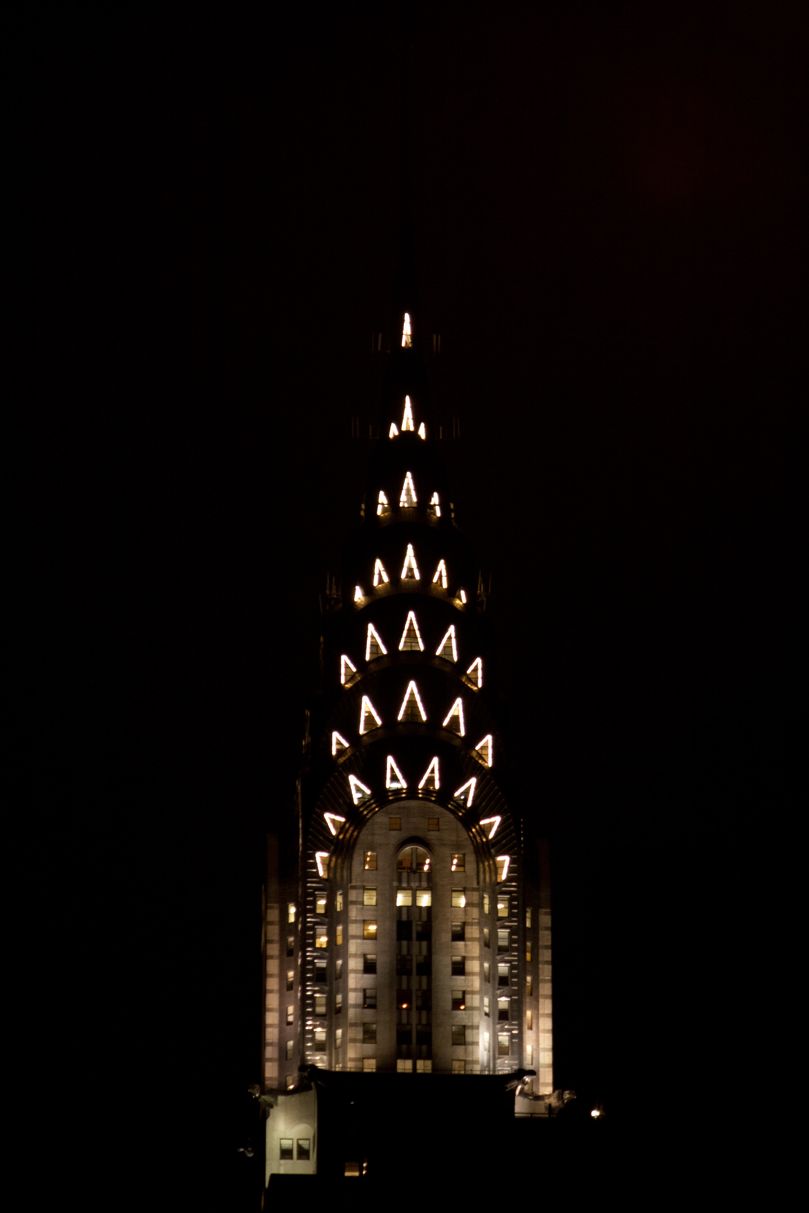 State Building At Night Black And White Chrysler Building Lit Up At